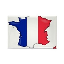 French Flag Map Rectangle Magnet