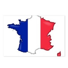 French Flag Map Postcards (Package of 8)