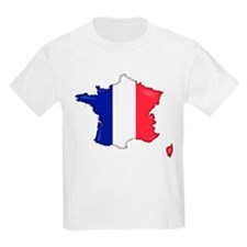 French Flag Map T-Shirt