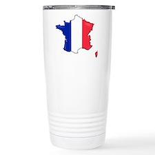 French Flag Map Travel Mug