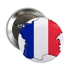 "French Flag Map 2.25"" Button"