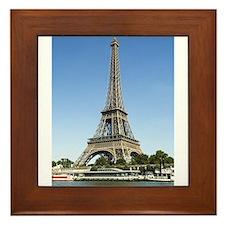 Eiffel Tower Across the River Framed Tile