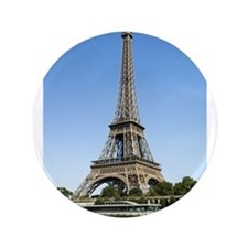 """Eiffel Tower Across the River 3.5"""" Button"""