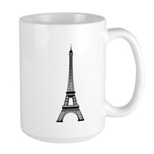 Eiffel Tower Outline Mug