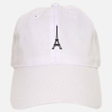 Eiffel Tower Outline Baseball Baseball Cap