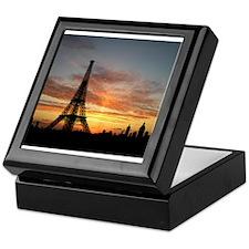 Eiffel Tower Silhouette Keepsake Box