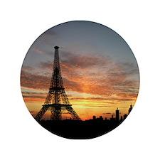 "Eiffel Tower Silhouette 3.5"" Button"