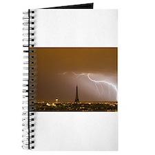 Eiffel Tower with Lightning Journal