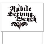 Nubile Serving Wench Yard Sign