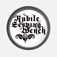 Nubile Serving Wench Wall Clock