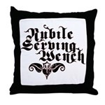 Nubile Serving Wench Throw Pillow
