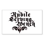 Nubile Serving Wench Rectangle Sticker