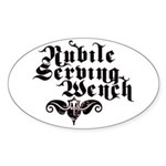 Nubile Serving Wench Oval Sticker