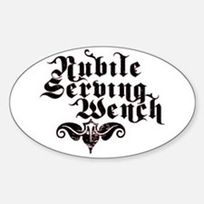 Nubile Serving Wench Oval Decal