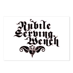 Nubile Serving Wench Postcards (Package of 8)