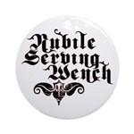 Nubile Serving Wench Ornament (Round)