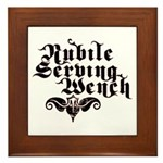 Nubile Serving Wench Framed Tile