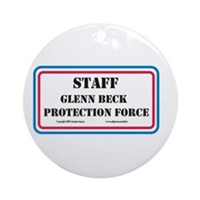Glenn Beck Protection Force # Ornament (Round)