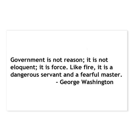 Government Is Not Reason Postcards (Package of 8)