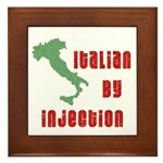 Italian by Injection Framed Tile