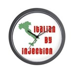 Italian by Injection Wall Clock