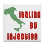 Italian by Injection Tile Coaster