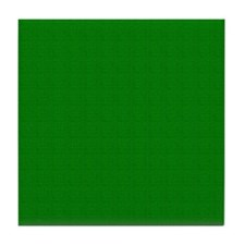 Dark Green Linen Look Tile Coaster