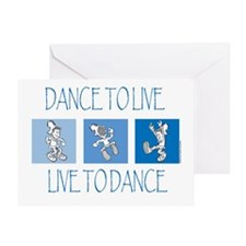 Curtis Dancing Blue Greeting Card
