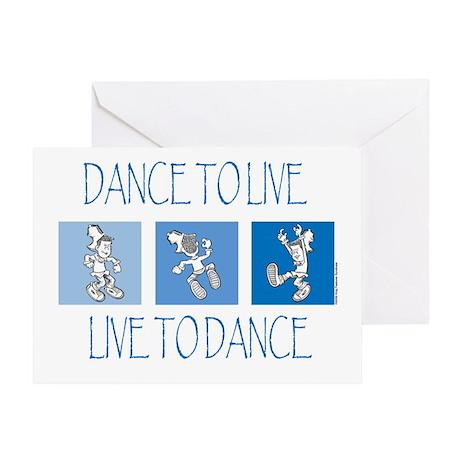 Curtis Dancing Blue Greeting Card