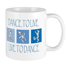 Curtis Dancing Blue Mug