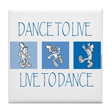 Curtis Dancing Blue Tile Coaster