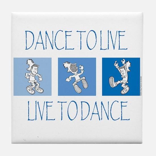 Curtis Dancing Blue Tile Coaster