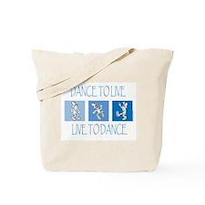 Curtis Dancing Blue Tote Bag