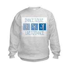 Curtis Dancing Blue Kids Sweatshirt