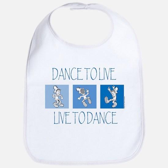 Curtis Dancing Blue Bib