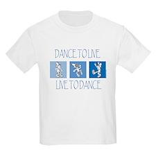 Curtis Dancing Blue Kids Light T-Shirt