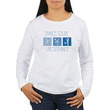 Curtis Dancing Blue Women's Long Sleeve T-Shirt