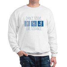 Curtis Dancing Blue Sweatshirt