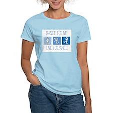Curtis Dancing Blue Women's Light T-Shirt