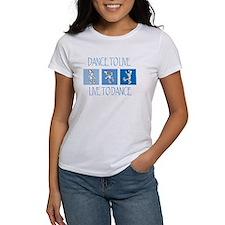 Curtis Dancing Blue Women's T-Shirt