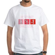 Live To Dance Red White T-Shirt