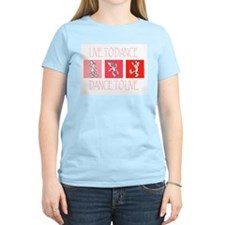 Live To Dance Red Women's Light T-Shirt