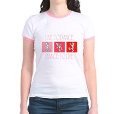 Live To Dance Red Jr. Ringer T-Shirt