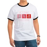 Live To Dance Red Ringer T