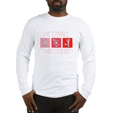 Live To Dance Red Long Sleeve T-Shirt