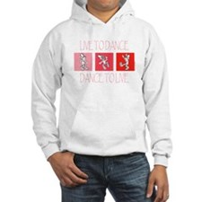 Live To Dance Red Hooded Sweatshirt