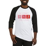 Live To Dance Red Baseball Jersey