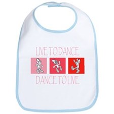 Live To Dance Red Bib