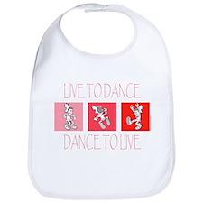 Live To Dance Red Bib