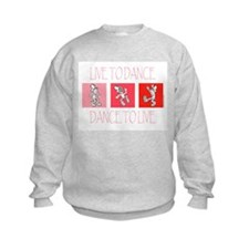 Live To Dance Red Kids Sweatshirt
